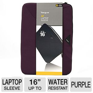 "Targus A7 Purple 16"" Laptop Sleeve"