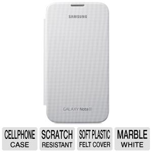 Samsung Galaxy Note 2 Flip Cover Case - Marble Whi