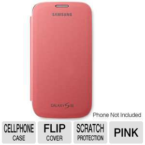 Samsung Galaxy S III Flip Cover Pink Case