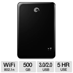 Seagate GoFlex Wireless 500GB WiFi HDD USB 3.0