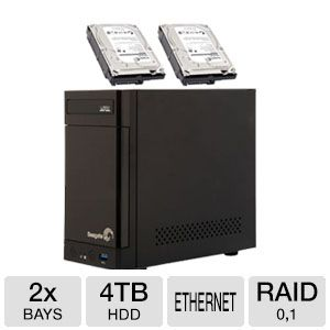 Seagate Business Storage 2-Bay NAS Bundle