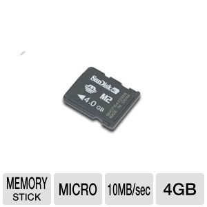 Sandisk 4GB Memory Stick Micro (M2)