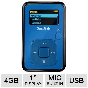SanDisk Sansa Clip+ Ice Blue MP3 Player