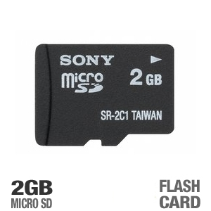 Sony SR2A1 2GB MicroSD Flash Card