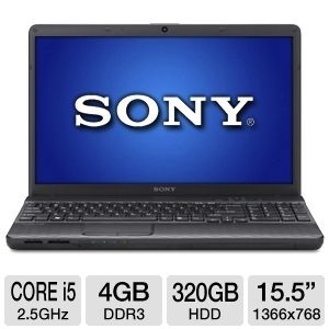 "Sony 15.5"" Core i5 320GB HDD Laptop"