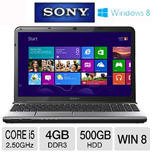 Sony VAIO 15.5&quot; Core i5 500GB HDD Laptop