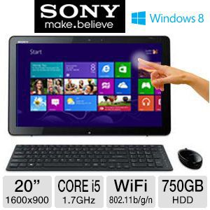 "Sony VAIO 20"" Core i5 750GB HDD All-In-One PC"