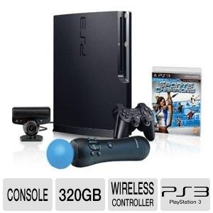 Sony 98311 PS3 320GB + Move Hardware Bundle