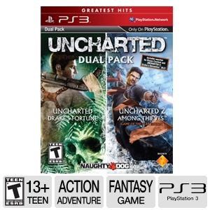 Sony Uncharted 1 & 2 Dual Pack Video Game