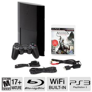 Sony PS3 Super Slim Assassin's Creed 3 Game Bundle