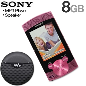 Sony  MP3 Player & Portable Speaker Bundle