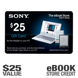 Sony EBOOK0225 $25.00 eBook Reader Gift Card