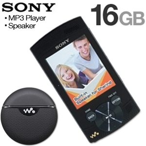 Sony  16 GB MP3 Player & Portable Speaker Bundle