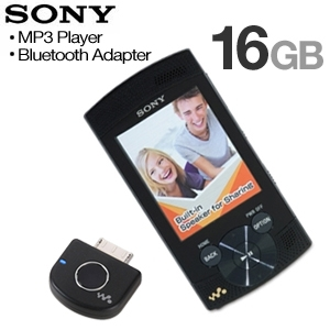 Sony 16GB MP3 Player &  Bluetooth Adaptor Bundle