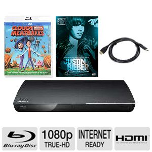 Sony WiFi DLNA Blu-Ray/ 2xHDMI/ 2xMovie Bundle
