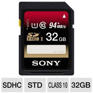 Sony 32GB SDHC Memory Card