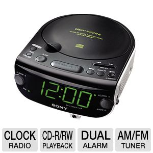 SONY ICFCD815 CD Clock Radio 