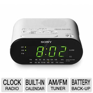 Sony ICF-C218WHITE AM/FM Clock Radio 
