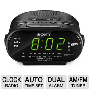 Sony ICFC318BLACK AM/FM Clock Radio