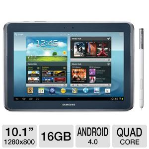"Samsung Galaxy Note 10.1"" Quad-Core 16GB Tablet"