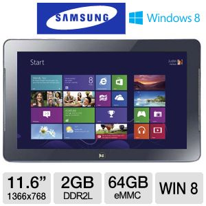"Samsung ATIV 11.6"" Intel Atom 64GB Smart PC"