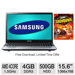 Samsung 15.6&quot; AMD Quad-Core 500GB HDD Notebook