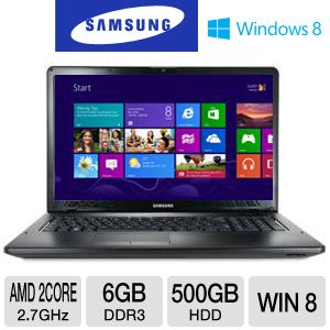 Samsung 17.3&quot; AMD Dual-Core 500GB HDD Notebook