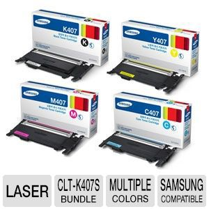 Samsung Black/Cyan/Magenta/Yellow Toner Bundle