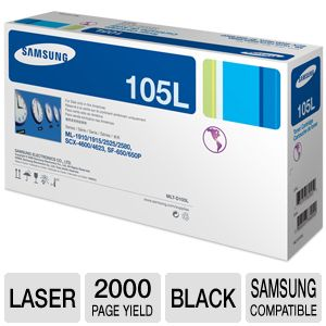 Samsung MLT-D105L Black Toner approx. 2K Yield