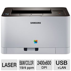 Samsung Xpress C410W Color Laser - NFC Print, Mobile Printing, Print Wirelessly, Google Cloud Print, Eco Button, WPS Button