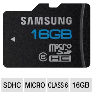 Samsung 16GB High Speed MicroSDHC Memory Card