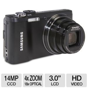 Samsung WB700 Black 14MP 18x Digital Camera