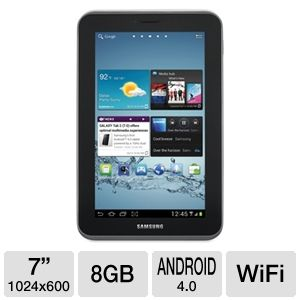 "Samsung Galaxy Tab 2 7"" 8GB Android 4.0 Tablet"