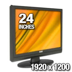 "SVA 2400w 24"" Widescreen LCD Monitor"