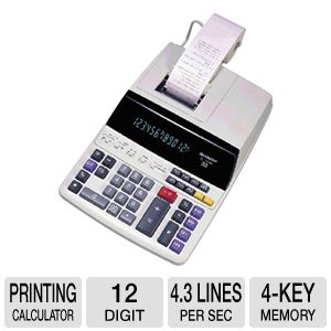 Sharp EL-1197PIII 12 Digit Printing Calculator