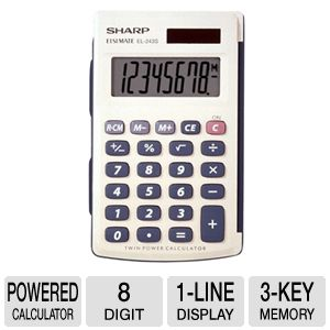 Sharp EL-243SB Basic Twin Powered Calculator