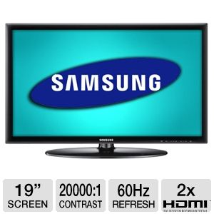 "Samsung UN19D4003 19"" 720p 60Hz LED HDTV REFURB"