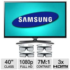 "Samsung UN40ES6580 40"" 1080p 120Hz WiFi LED 3D TV"