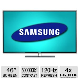 "Samsung UN46D6400 46"" 1080p 120Hz 3D LED HD REFURB"
