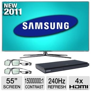 "55"" 1080P 240HZ 3D LED LCD HDTV Bundle"