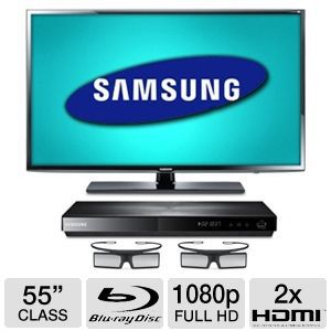 "Samsung 55"" LED 3D HDTV with Blu-ray Disc P REFURB"