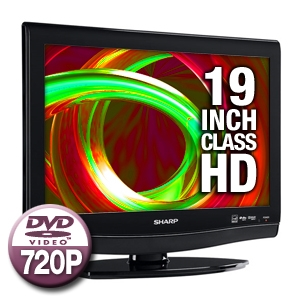 "Sharp LC19DV27U 19"" LCD HDTV with Integrated DVD P"