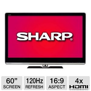 Sharp 60&quot; Class Quattron Edge Lit LED HDTV Refurb