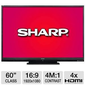 "Sharp Aquos 60"" Class 1080p 120 Hz LED Smar Bundle"