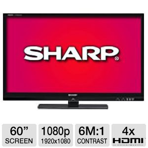 Sharp LC60LE832U 60&quot; 240hz Quattron Smart HDTV