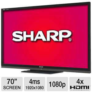 "Sharp LC70LE734U 70"" 1080p WiFi LED HDTV Refurb"