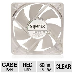 SilenX Effizio Silent 80mm Red LED Case Fan