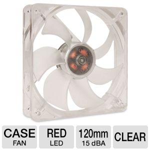 SilenX Effizio Silent Red LED 120mm Case Fan