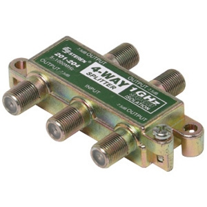 Steren 201-204 4-Way 1GHz 90db F Splitter