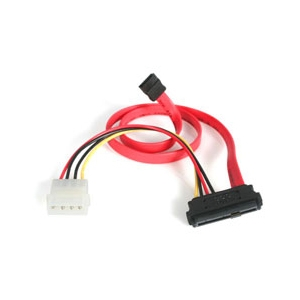 StarTech SAS 29 Pin to SATA Cable with LP4 Power